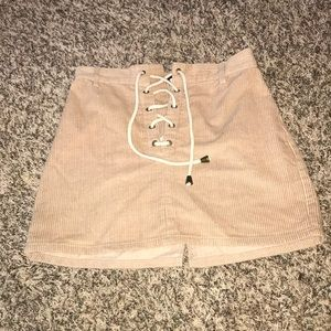 Kendall and Kylie tie suede skirt